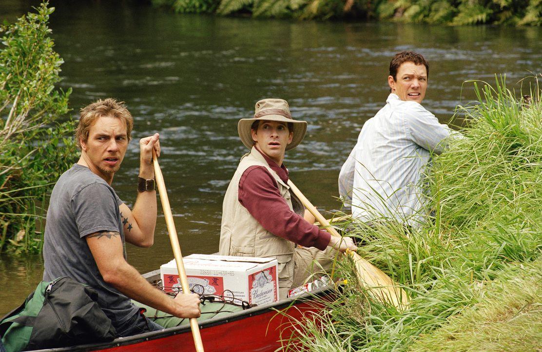Mit einem Kanu geht es zunächst flussaufwärts und bald darauf mitten hinein in den größten Schlamassel ihres Lebens: , (v.l.n.r.) Tom (Dax Shepard),... - Bildquelle: Paramount Pictures