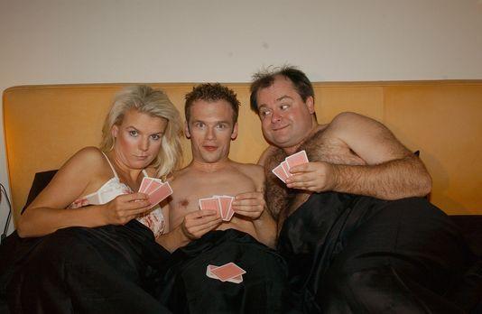 Die Dreisten Drei, v.l.n.r.: Mirja Boes, Ralf Schmitz, Markus Majowski, bei e...