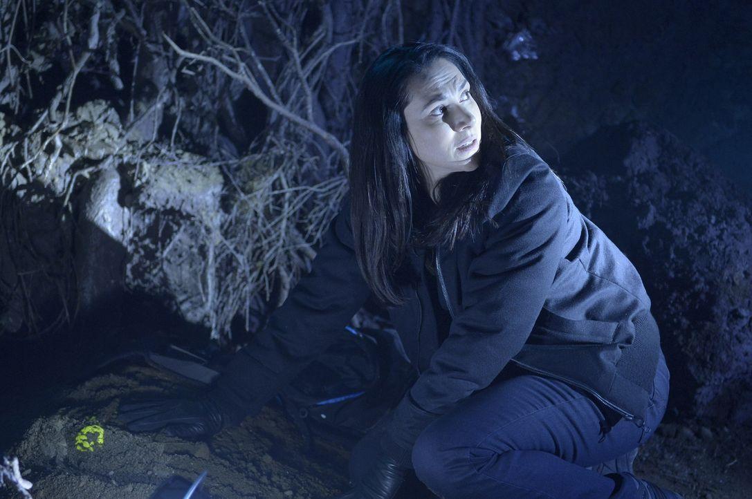 Während Kyle und Sarah sich nach einer Warnung auf die Flucht begeben, suchen Julia (Kyra Zagorsky) und Alan verzweifelt nach einem weiteren Teil de... - Bildquelle: Philippe Bosse 2014 Syfy Media, LLC