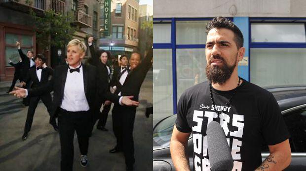 Top: Ellen DeGeneres +++Flop: Bushido - Bildquelle: YouTube/Oscars, dpa