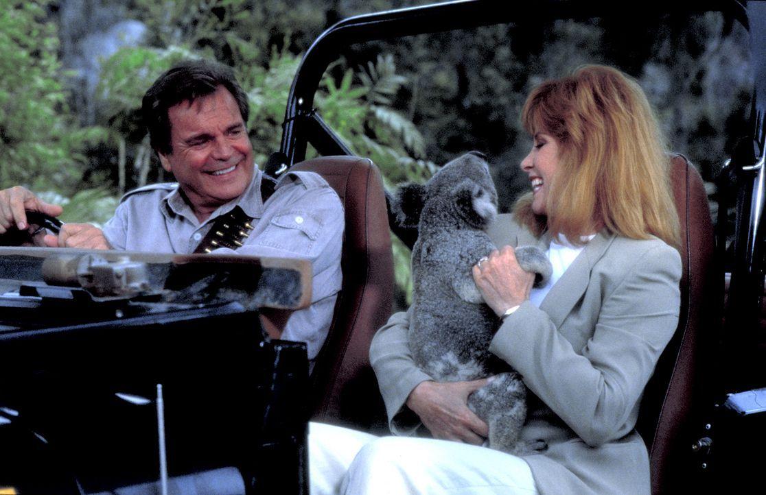 Endlich ist der Traum von Jonathan (Robert Wagner, l.) und Jennifer (Stefanie Powers, r.), ihr eigenes Naturschutzgebiet in Australien zu eröffnen,... - Bildquelle: Columbia Pictures