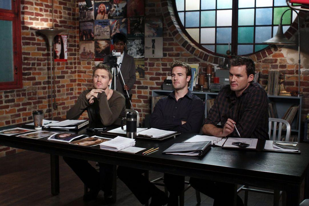 Lucas (Chad Michael Murray, l.), Reese Dixon (James Van Der Beek, M.) und Julian (Austin Nichols, r.) sind auf der Suche nach der passenden Besetzun... - Bildquelle: Warner Bros. Pictures