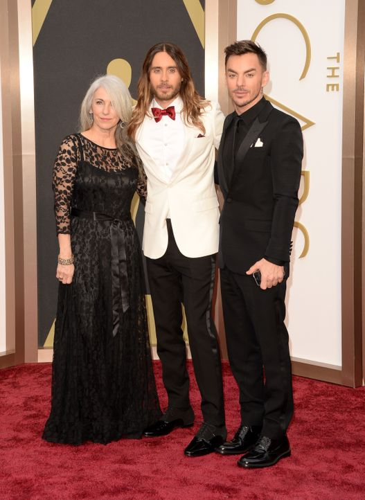 Jared Leto mit Mutter.... - Bildquelle: getty AFP