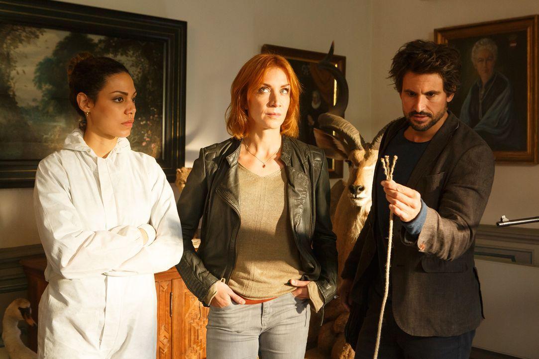 """(v.l.n.r.) Kirsten Maybach (Haley Louise Jones); Elena Lange (Annika Ernst); Felix """"Einstein"""" Winterberg (Tom Beck) - Bildquelle: Kai Schulz SAT.1/Kai Schulz"""