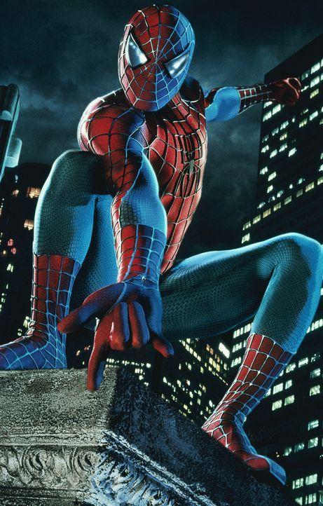 """""""Mit großer Macht kommt große Verantwortung"""": Für Peter Parker alias Spider-Man (Tobey Maguire) steht fest, dass er seine übermenschlichen Fähi... - Bildquelle: 2003 Sony Pictures Television International"""