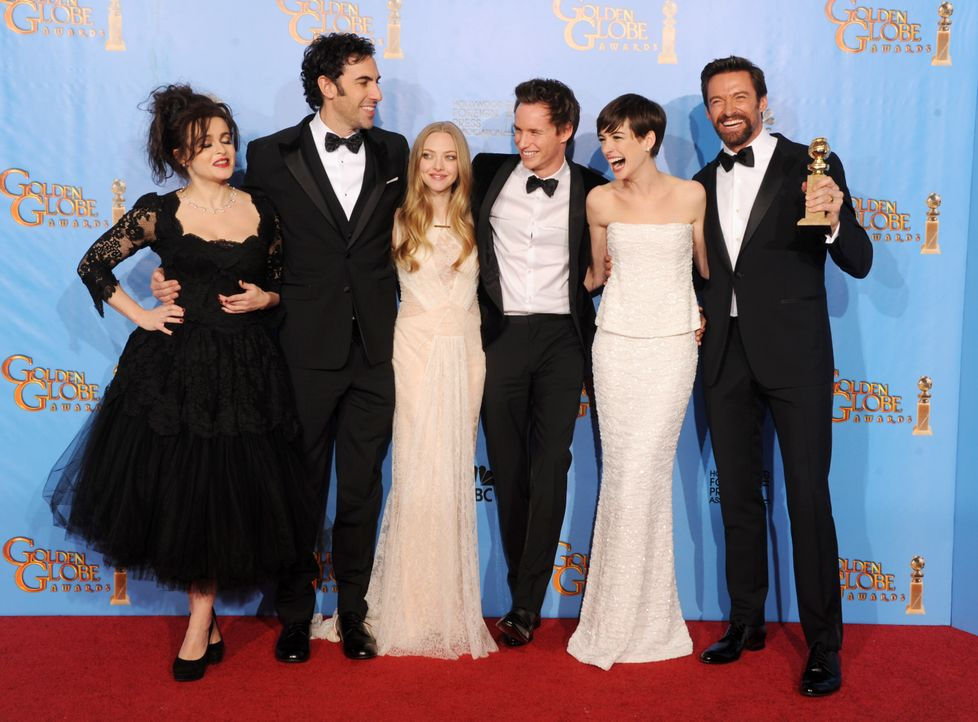"Das Team von ""Les Misérables"" bei den Golden Globes 2013 - Bildquelle: AFP"