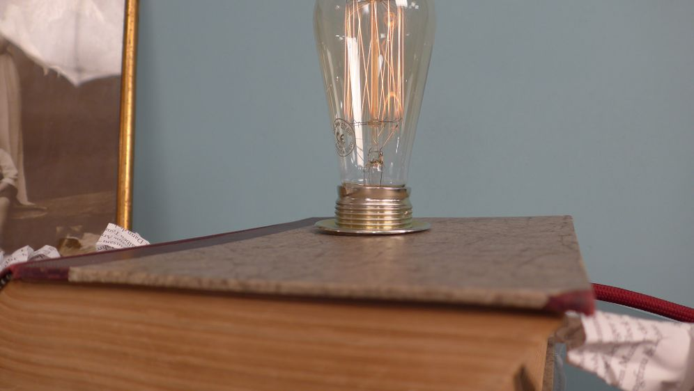 belesene lampe selbst gebastelt. Black Bedroom Furniture Sets. Home Design Ideas