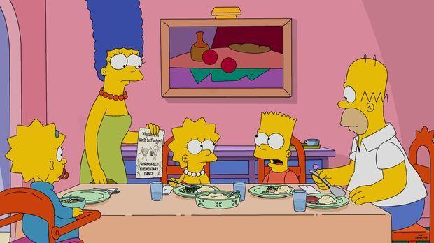 Während Homer (r.) und Marge (2.v.l.) sich darüber freuen, dass ihr Sohn Bart...