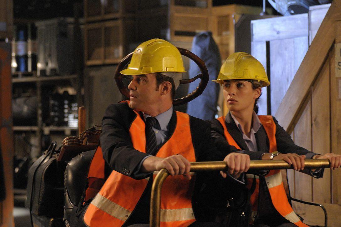 Werden als Wachmannschaft in das Warehouse 13 versetzt: die beiden Secret-Service-Agenten Pete Lattimer (Eddie McClintock, l.) und Myka Bering (Joan... - Bildquelle: Philippe Bosse SCI FI Channel