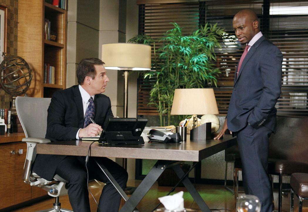 Machen sich weiter Sorgen um Corinne: Sam (Taye Diggs, r.) und Sheldon (Brian Benben, l.) ... - Bildquelle: ABC Studios