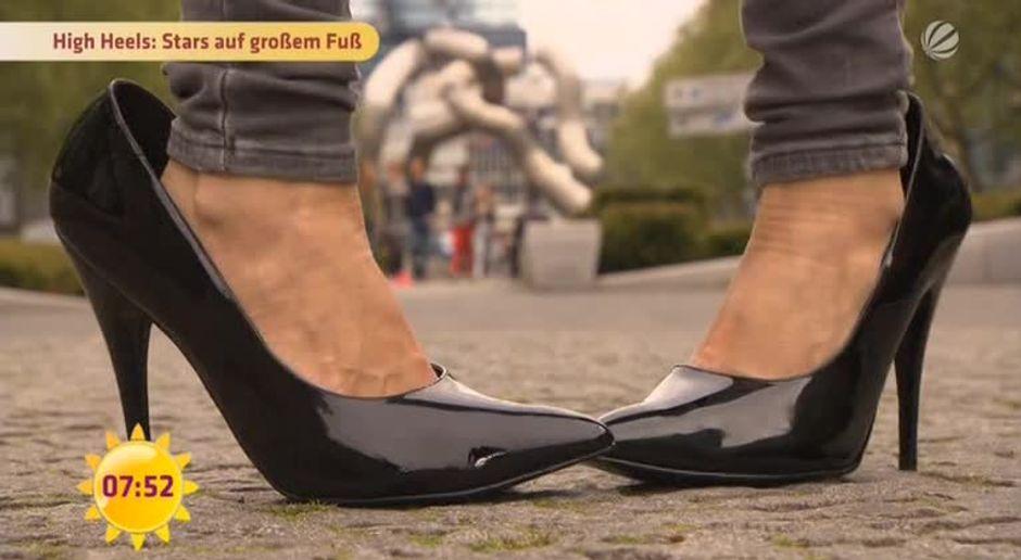high heels zu groß was tun