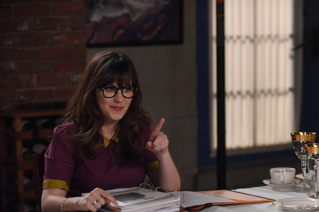 Jess (Zooey Deschanel) will ihre Freunde am Valentinstag davon überzeugen, dass sie auch als Single glücklich ist. Doch ist sie das wirklich? - Bildquelle: 2017 Fox and its related entities.  All rights reserved.