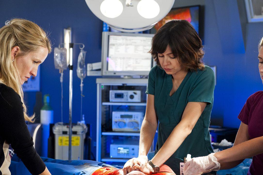 Dr. Lin (Julia Taylor Ross, r.) und Dawn (Michelle Nolden, l.) glauben, dass Alex sich bereits auf dem Weg der Besserung befindet, während Charlie s... - Bildquelle: Caitlin Cronenberg 2014 Hope Zee Three Inc.