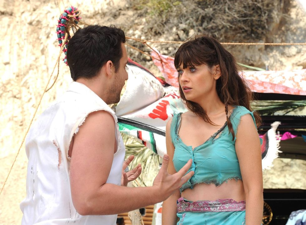 Nick (Jake Johnson, l.) und Jess (Zooey Deschanel, r.) machen einen romantischen Ausflug nach Mexiko - der jedoch im Chaos endet ... - Bildquelle: TM &   2013 Fox and its related entities. All rights reserved.