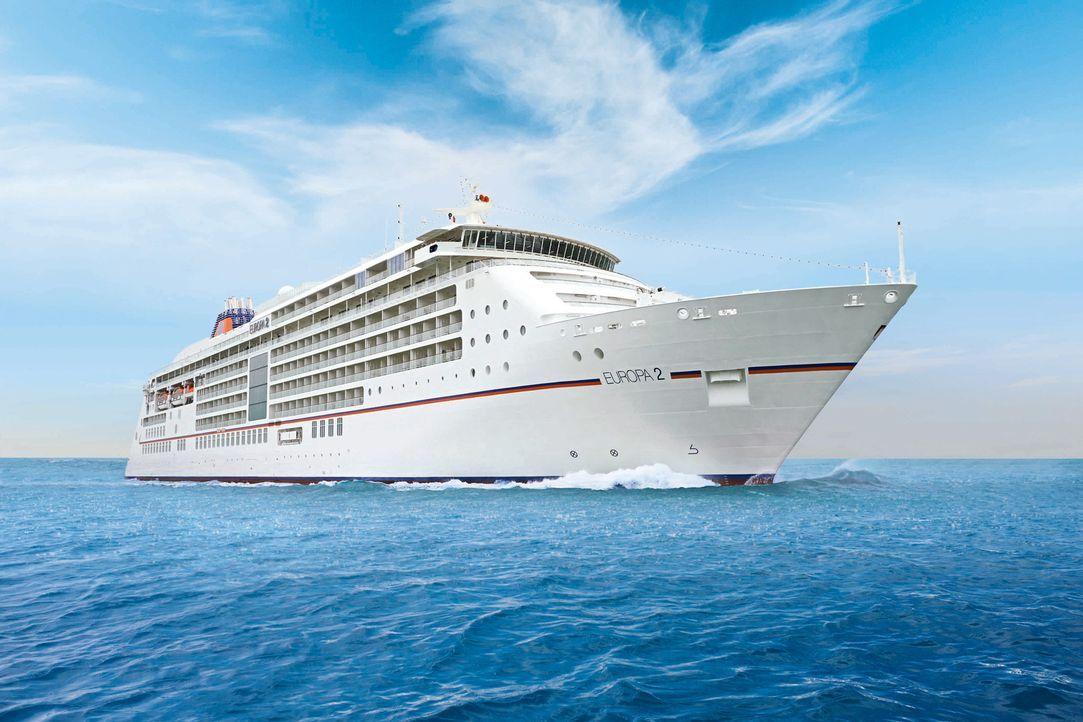 """Luxus auf hoher See: Die """"MS Europa 2"""" soll ihren insgesamt 516 Gästen Kreuzfahrt-Vergnügen vom Feinsten bieten. Dazu gehört nicht nur eine hohe Per... - Bildquelle: Hapag-Lloyd Kreuzfahrten"""