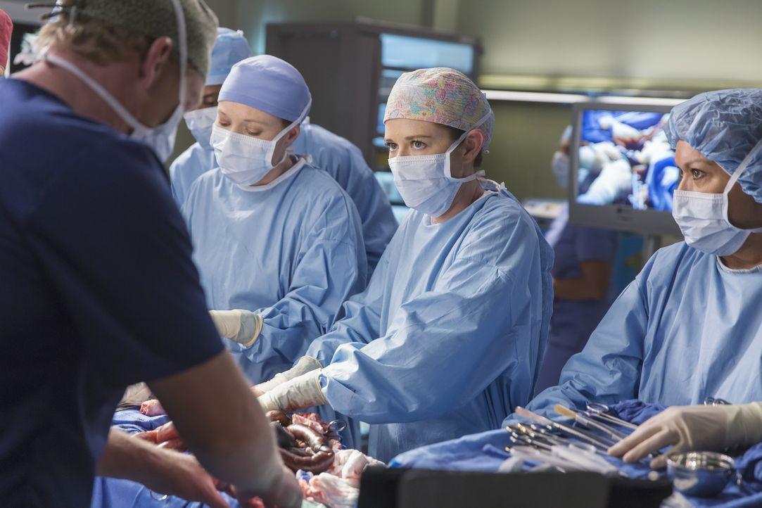 Im Kampf auf Leben und Tod: Owen (Kevin McKidd, l.), April (Sarah Drew, 2.v.r.) und Blake (Samantha Sloyan, 2.v.l.) ... - Bildquelle: Ron Batzdorff ABC Studios
