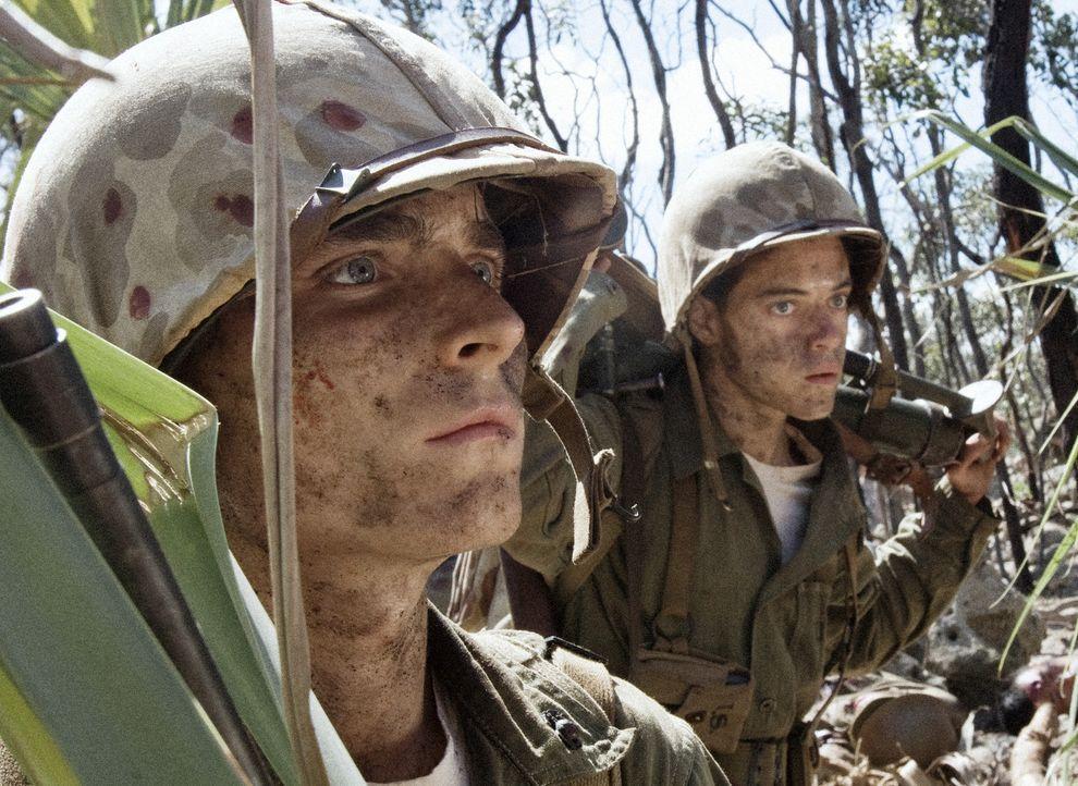 Am 15. September 1944 begann die 1. US-Marinedivision planmäßig mit der Landung. Niemand ahnt, dass den jungen Soldaten wie Corp. R.V. Burgin (Mar... - Bildquelle: Home Box Office Inc. All Rights Reserved.