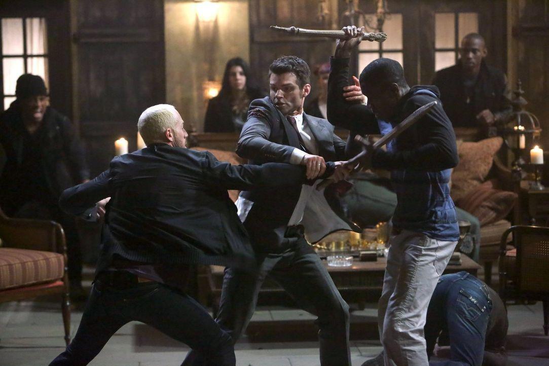 Wie lange wird sich Elijah (Daniel Gillies, M.) gegen die Angriffe zur Wehr setzen können? - Bildquelle: Warner Bros. Television