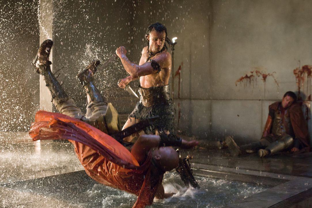 """Als Glaber beschließt, Seppius umzubringen, setzt er erstmalig den gefürchteten Mörder """"Der Ägypter"""" (Steven Dunlevy, stehend) ein ... - Bildquelle: 2011 Starz Entertainment, LLC. All rights reserved."""