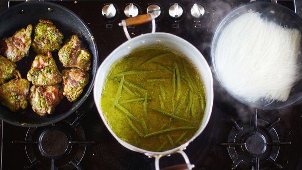 Grünes Curry mit ...