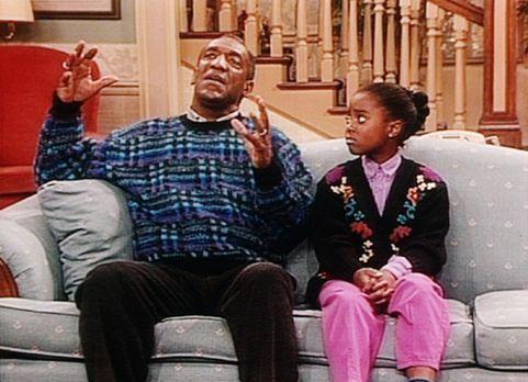 Bill Cosby Show - Cliff (Bill Cosby, l.) versucht, der liebeskranken Rudy (Ke...