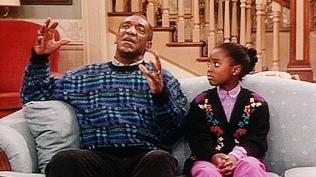 Cliff (Bill Cosby, l.) versucht, der liebeskranken Rudy (Keshia Knight Pullia...