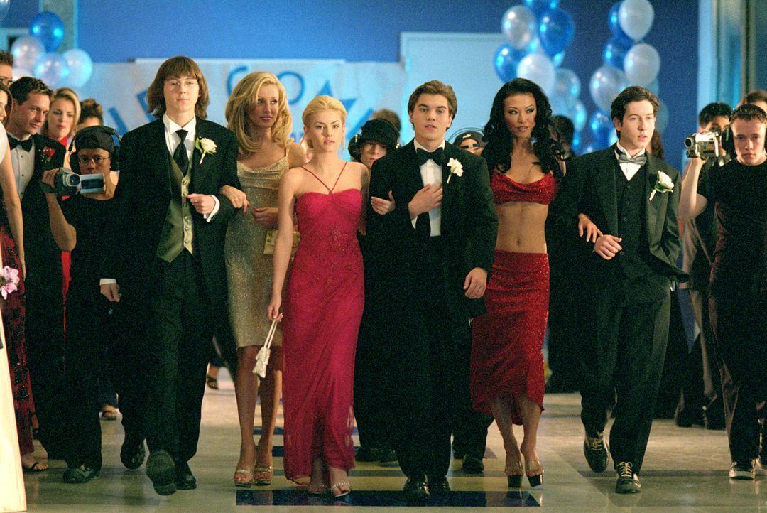"""Zur Überraschung ihrer Mitschüler können die drei """"Streber"""" (v.l.n.r.) Klitz (Paul Dano), Matthew (Emiel Hirsch) und Eli (Chris Marquette) mit glanz... - Bildquelle: 2004 by Epsilon Motion Pictures"""
