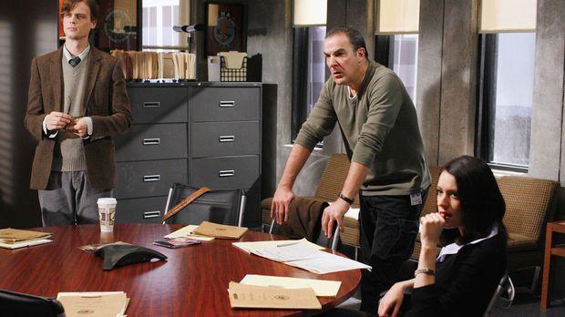 Auf der Suche nach einem Serienmörder: Reid (Matthew Gray Gubler, l.), Gideon...