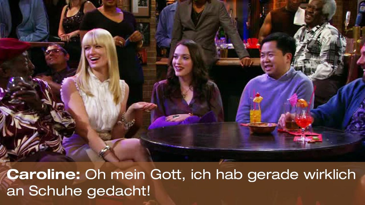 2-broke-girls-zitat-quote-staffel2-episode5-darius-lachexpress-caroline-schuhe-warnerpng 1600 x 900 - Bildquelle: Warner Brothers Entertainment Inc.
