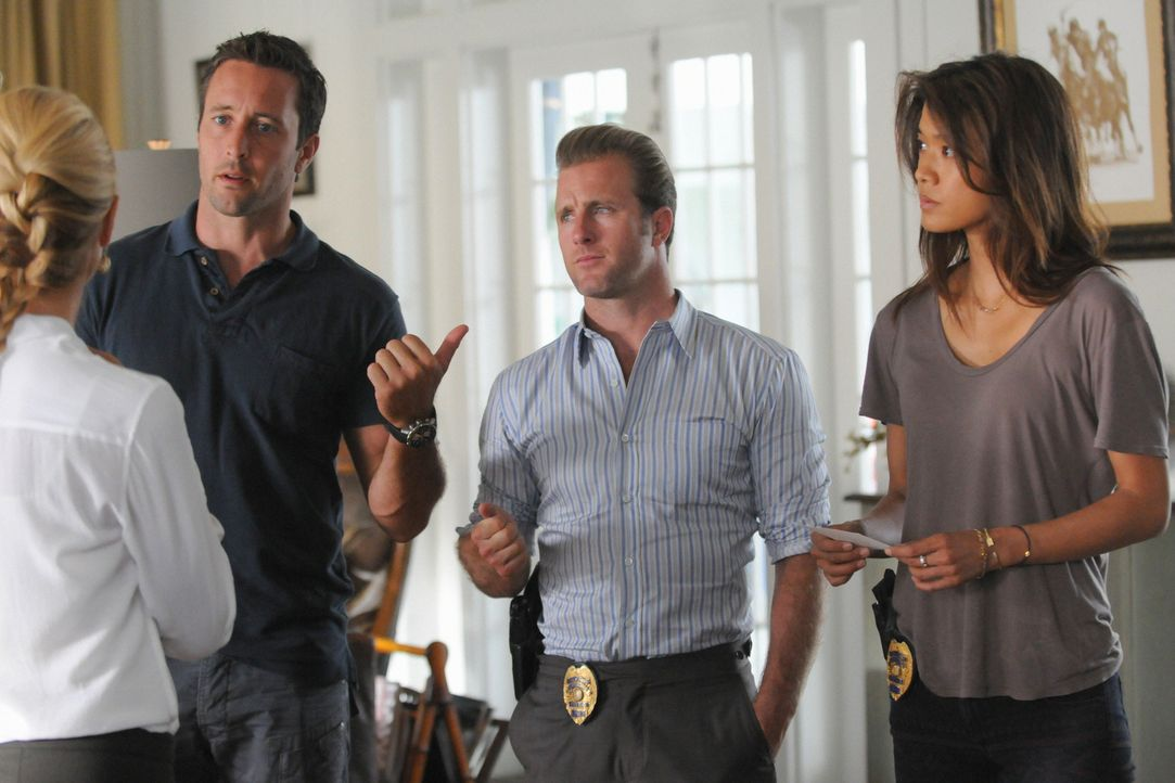 Der Mord an einem Polospieler beschäftigt Steve (Alex O'Loughlin, l.), Danny (Scott Caan, M.) und Kono (Grace Park, r.) ... - Bildquelle: 2012 CBS Broadcasting, Inc. All Rights Reserved.