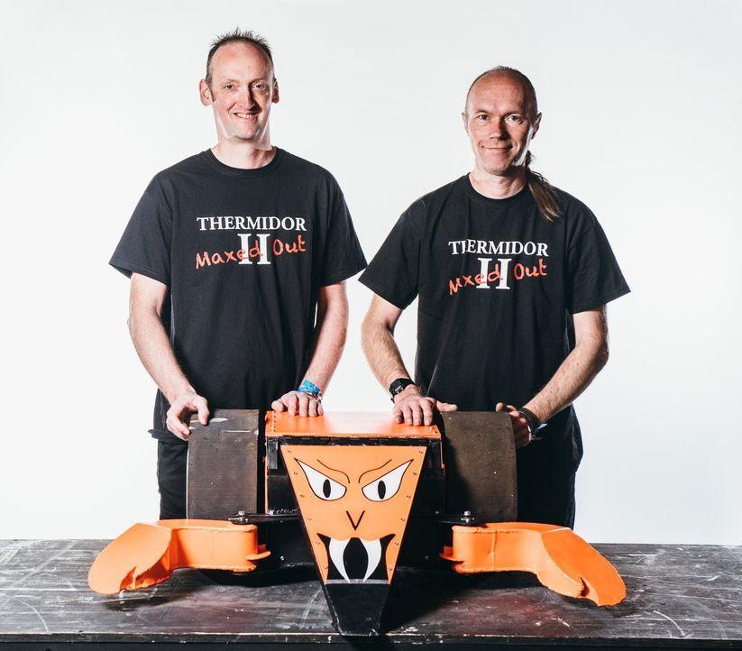 Wird der selbst gebauter Roboter von Team Thermidor II siegreich sein und all seine Widersacher in der Kampfarena vom Platz fegen? - Bildquelle: Andrew Rae