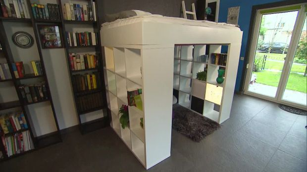 Do it yourself hochbett aus ikea regal - Podestbett ikea ...