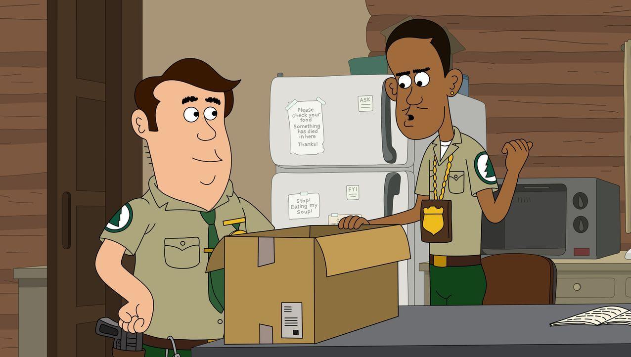 Können nicht glauben, dass Woody Pornodarsteller war: Steve (l.) und Denzel (r.) ... - Bildquelle: 2013 Twentieth Century Fox Film Corporation and Comedy Partners. All rights reserved.