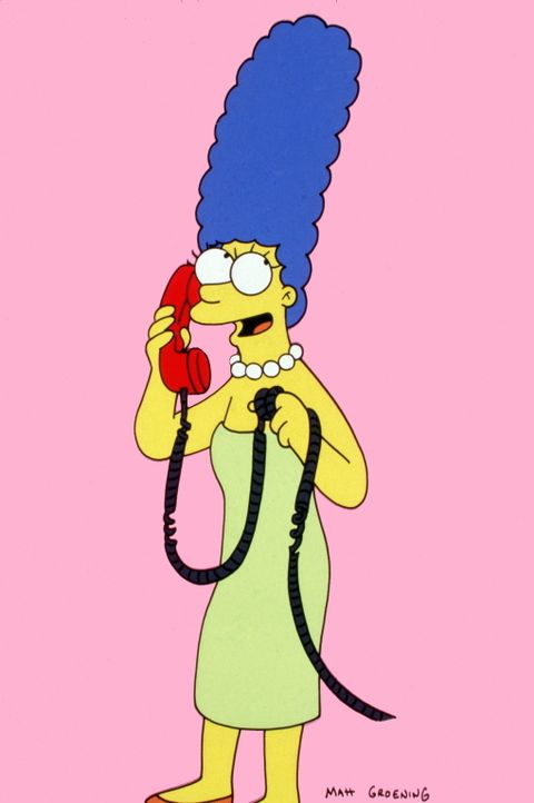 (13. Staffel) - Die liebevolle Mutter Marge Simpson hängt mal wieder an der Strippe. - Bildquelle: und TM Twentieth Century Fox Film Corporation - Alle Rechte vorbehalten