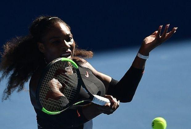 Bald wieder ein gewohntes Bild: Serena Williams am Ball