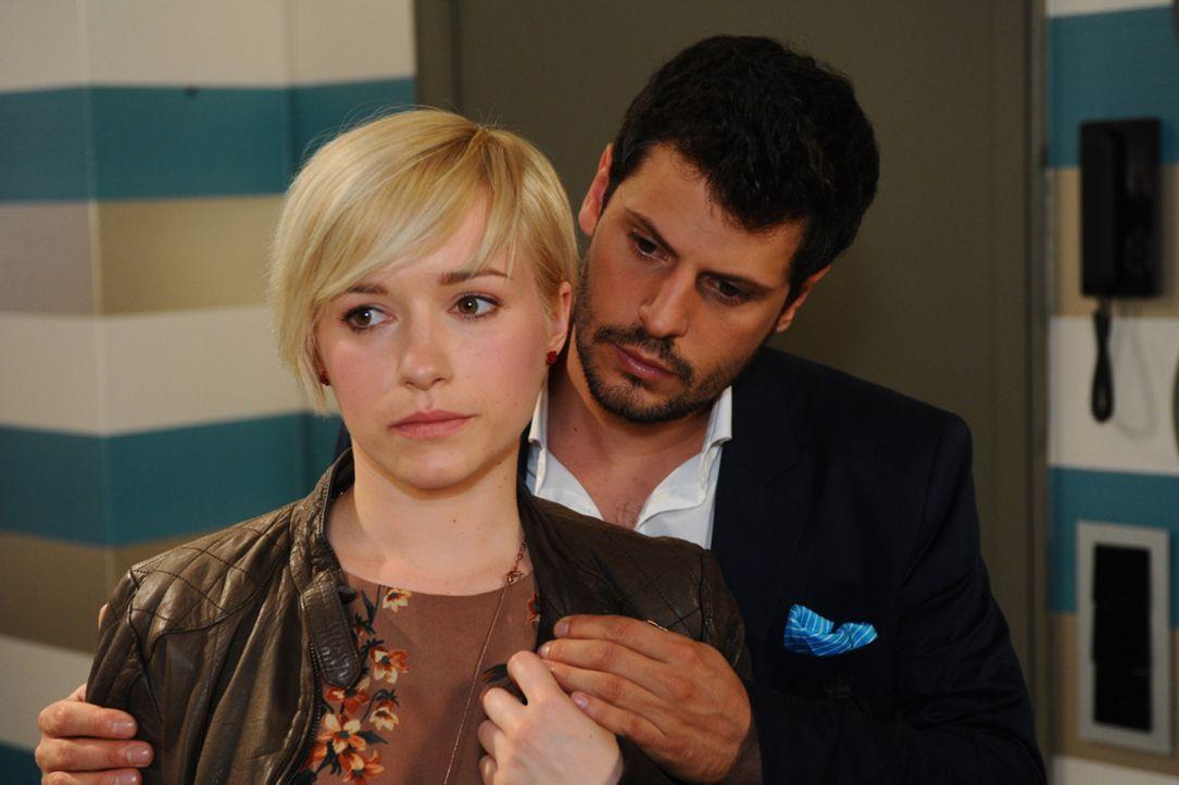 Wie geht es mit Olivia (Kasia Borek, l.) und Luca (Manuel Cortez, r.) weiter? - Bildquelle: SAT.1
