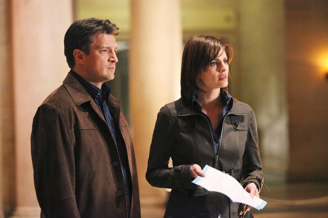 Wird es Richard Castle (Nathan Fillion, l.) und Kate Beckett (Stana Katic, r.) gelingen, den aktuellen Fall aufzuklären? - Bildquelle: ABC Studios