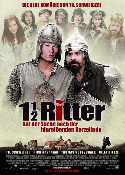 1 1/2 Ritter - Auf der Suche nach der hinreißenden Herzelinde: Edelmann Lanze (Til Schweiger, l.) und Ritter Erdal (Rick Kavanian, l.) ... - Bildquelle: Warner Brothers