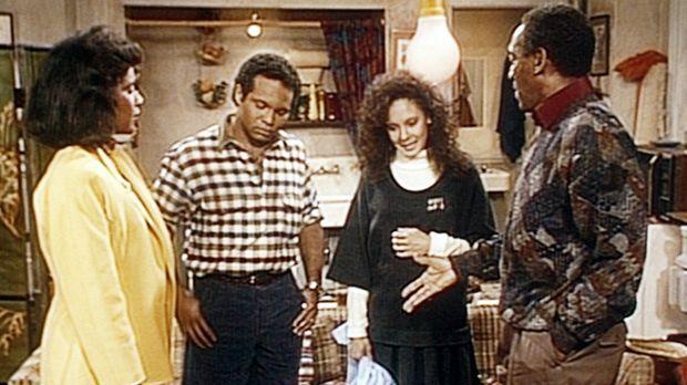 Cliff (Bill Cosby, r.) und Clair (Phylicia Rashad, l.) können nicht verstehen...