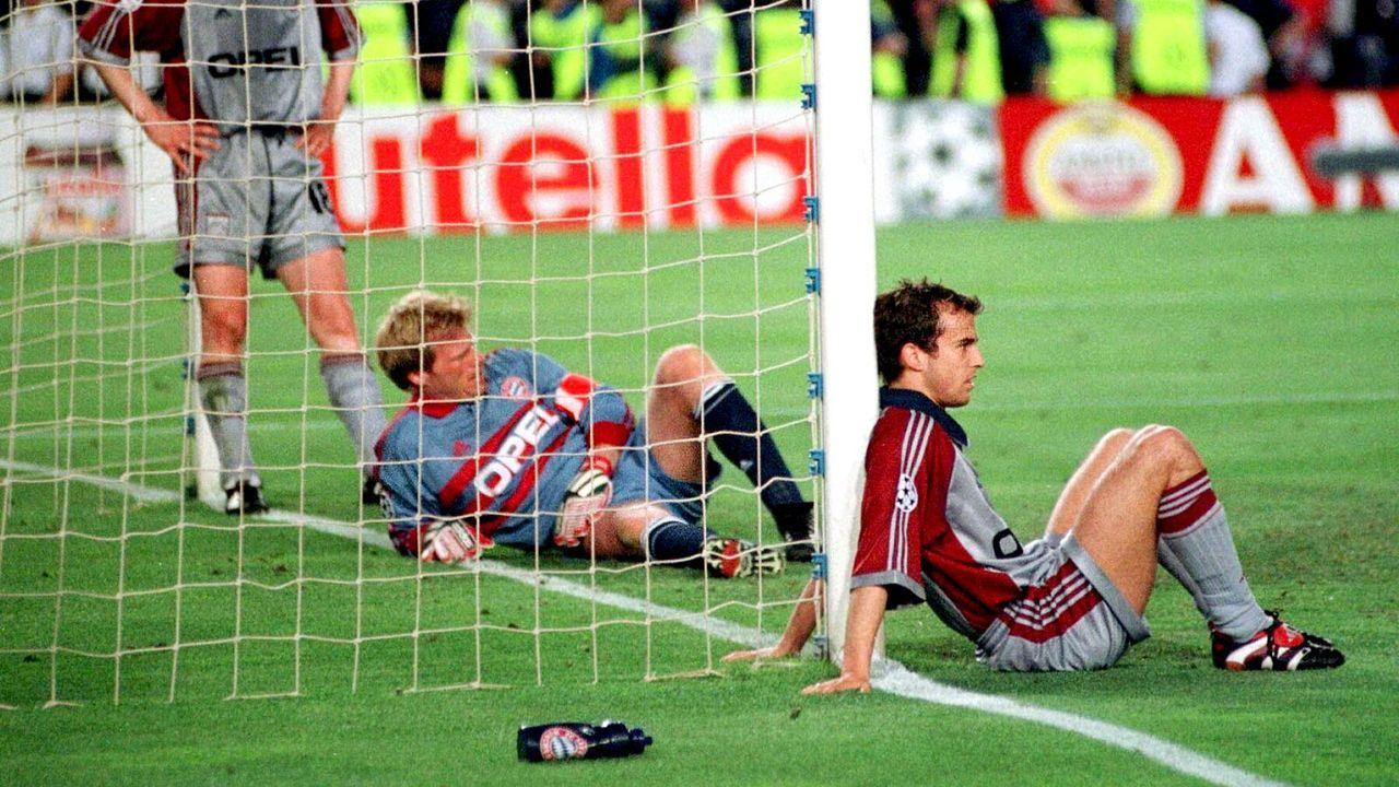 FCB-vs-Manu-Kahn-Tarnat-Babbel-99-05-26-dpa - Bildquelle: dpa