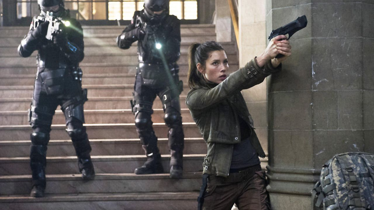 "Jessica Biel in ""Total Recall"" - Bildquelle: Sony Pictures (Total Recall - Kinostart am 23.08.2012)"