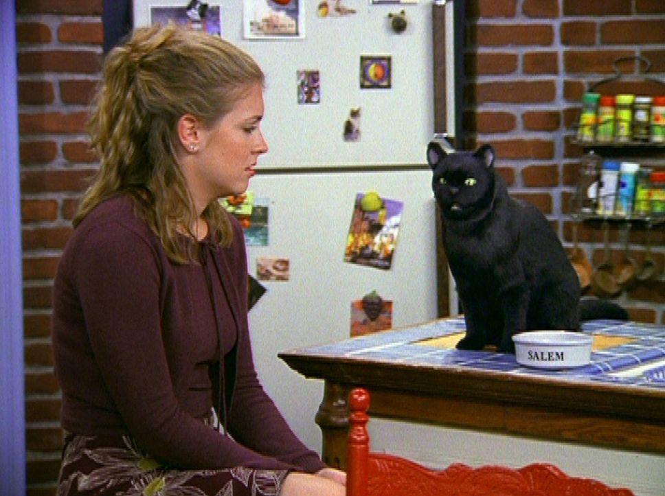 Sabrina (Melissa Joan Hart) ist so eifersüchtig und bittet deshalb ihren Kater Salem um Hilfe ... - Bildquelle: Paramount Pictures
