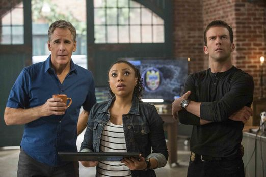 Pride (Scott Bakula, l.), Percy (Shalita Grant, M.), LaSalle (Lucas Black, r....