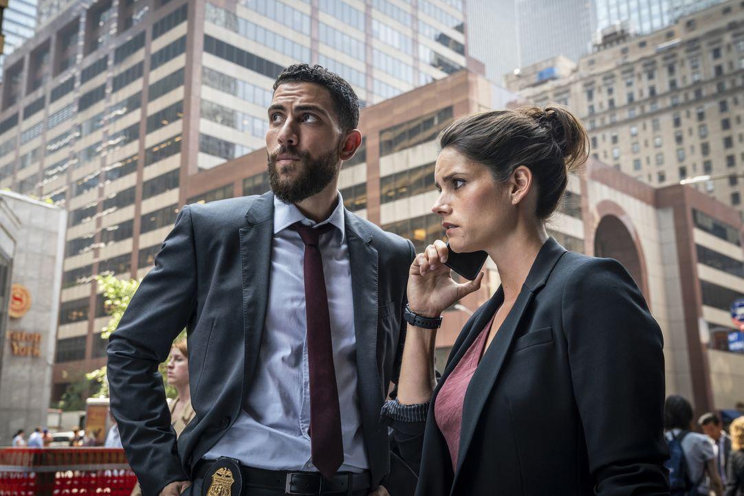 Omar Adom Zidan (Zeeko Zaki, l.); Maggie Bell (Missy Peregrym, r.) - Bildquelle: Michael Parmelee 2018 CBS Broadcasting, Inc. All Rights Reserved/Michael Parmelee