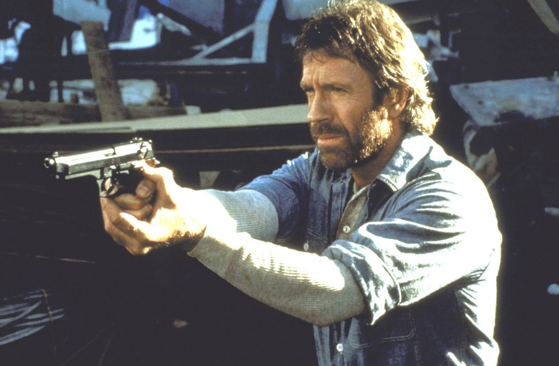 Seit er einen wahnsinnigen Frauenmörder geschnappt hat, gilt O'Brien (Chuck Norris) als Supercop, als ?Hero?. - Bildquelle: Cannon Films