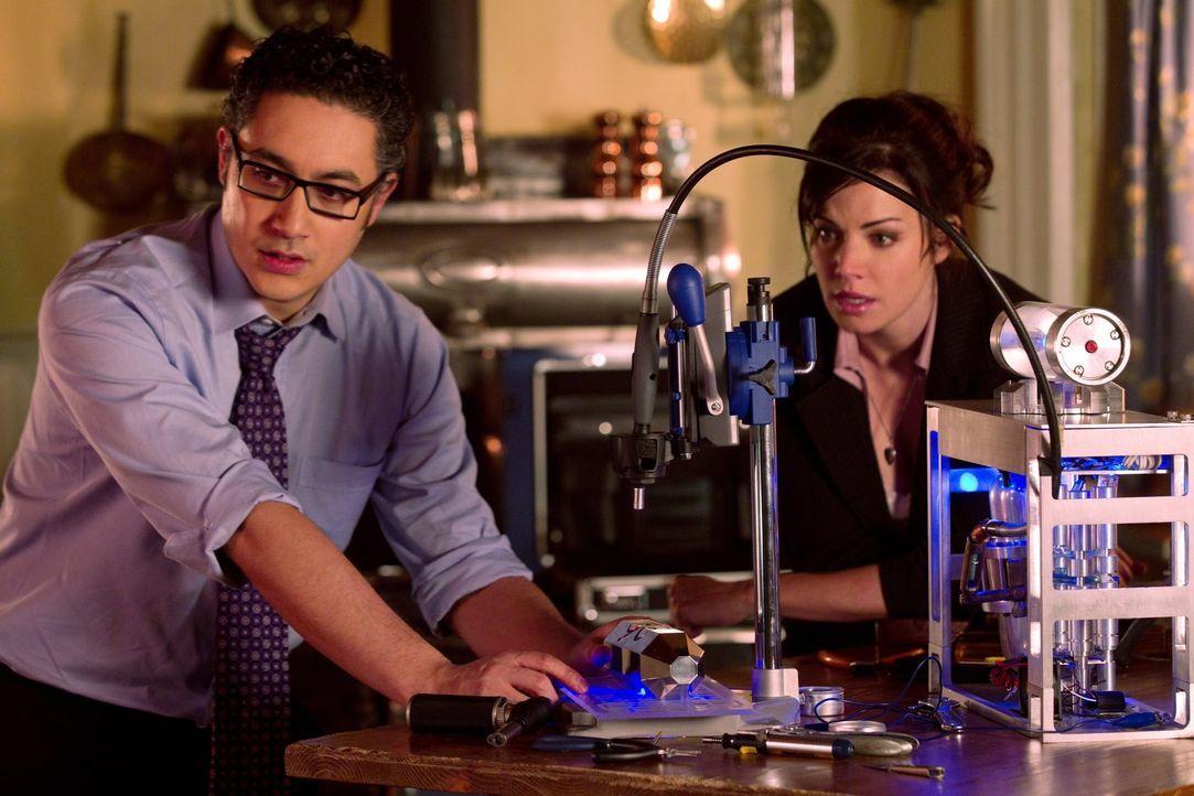 Im Paralleluniversum, in dem Clark gefangen ist, arbeitet Lois (Erica Durance, r.) weiterhin als Kellnerin. Kann sie mit der Hilfe von Dr. Emil Hami... - Bildquelle: Warner Bros.