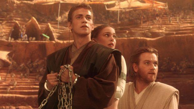 Im Visier des Bösen: (v.l.n.r.) Anakin (Hayden Christensen), Amidala (Natalie...