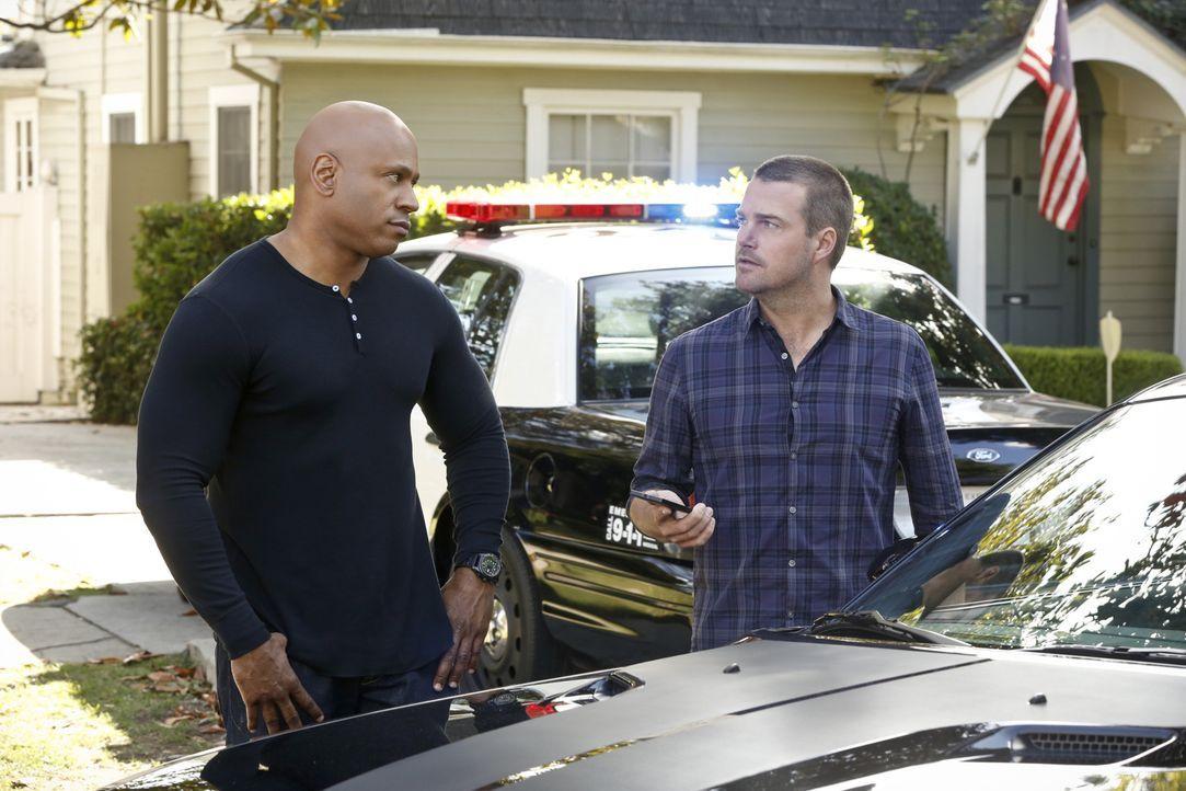 Versuchen herauszufinden, was mit Granger geschehen ist: Callen (Chris O'Donnell, r.) und Sam (LL Cool J, l.) ... - Bildquelle: CBS Studios Inc. All Rights Reserved.