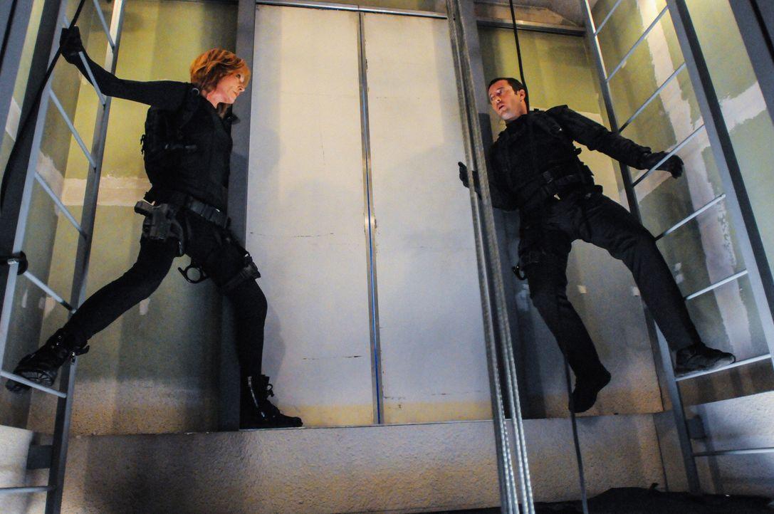 Eine ganz besondere Mission wartet auf Steve (Alex O'Loughlin, r.) und seine Mutter (Christine Lahti, l.) ... - Bildquelle: 2013 CBS Broadcasting, Inc. All Rights Reserved.