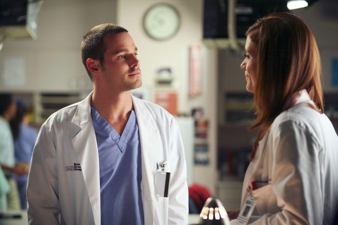 Bei einer Behandlung zeigt Alex (Justin Chambers, l.) ungeahnte Sensibilität - Addison (Kate Walsh, r.) ist beeindruckt ... - Bildquelle: Touchstone Television